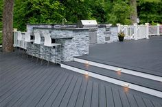 Which decking material is best? TimberTech & AZEK have been making composite decking products for decades. Outdoor Spaces, Outdoor Living, Outdoor Decor, Outdoor Decking, Decking Ideas, Outdoor Kitchens, Outdoor Projects, Outdoor Ideas, Patio Design