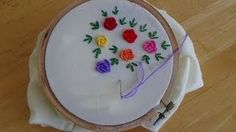 how to embroider by hand for beginners - YouTube