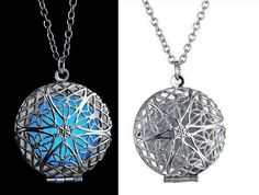 1 X Unisex Lucky Fairy Round Magic Locket Glow In The Dark Pendant Glowing Necklace Hot Gift HOT Jewelry