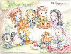 Harvest Moon Halloween artwork.   Just beautiful.
