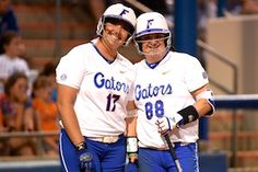 Lauren Haeger (left) and Bailey Castro combined for three home runs and seven RBI on Friday. (Photo: Jim Burgess)