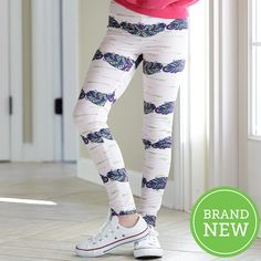 Girls Light Pink Arrow Feather Arden Leggings – Lolly Wolly Doodle