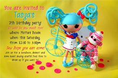lalaloopsy party invite by dennasideas.com can be personalized