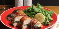 Prosciutto-Wrapped Chicken Breast Stuffed with Ricotta and Spinach.
