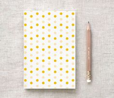 Hexagon Patterned Notebook & Pencil Set - Honey, Wine OR Cyan - Recycled Journal Wedding Favors, Birthday Party Favors - Geometric Notebook