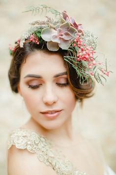 Wedding floral headpiece
