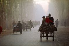Travelling to Kashgar market, Xinjiang, China
