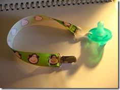 My Crafty Side: **Tutorial** How to make a Soothie Pacifier Keeper