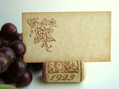 Vineyard Place Cards Rustic Wedding Wine Tasting Party by PapergirlStudios on Etsy https://www.etsy.com/listing/70871022/vineyard-place-cards-rustic-wedding-wine