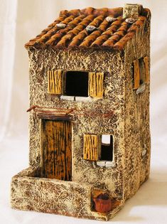 maison - Happy Christmas - Noel 2020 ideas-Happy New Year-Christmas Clay Houses, Ceramic Houses, Stone Houses, Miniature Houses, Village Houses, Fairy Houses, Ceramic Pottery, Ceramic Art, Recycled House