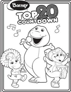 Fresh Barney Coloring Book 66 Barney Colouring Page For