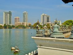 View of Colombo from the water temple: Seema Malakaya