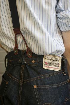 Rock`n Roll,Blues,Country and Americana Look Vintage, Vintage Denim, Retro Vintage, Raw Denim, Denim Jeans, Denim Shirts, Crea Cuir, Jacket Outfit, Costume