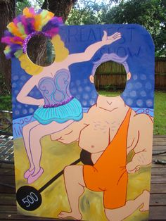 Acrobat and Strongman Photo Prop - Carnival or Circus Themed Event Decoration and Party Prop. $120.00, via Etsy.