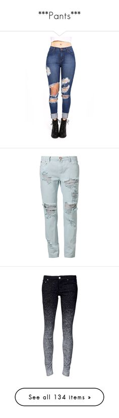 """""""***Pants***"""" by julianamazzei ❤ liked on Polyvore featuring jeans, pants, bottoms, denim, pink jeans, ripped jeans, high rise jeans, torn jeans, pink high waisted jeans and calças"""