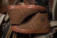 """VINTAGE-INSPIRED PF FLYERS """"BCK RAMBLER"""" SNEAKERS BY THE BROOKLYN CIRCUS"""