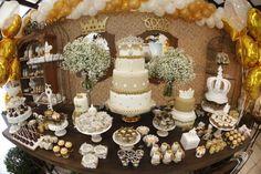 gold, white, caramel princess/prince 4th bday party - karas party ideas_MG_0641_600x400