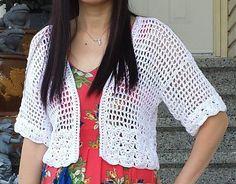 Short 'n Sassy Mesh Crochet Cardigan Crochet pattern by Nicole Wang | Crochet Patterns | LoveCrochet