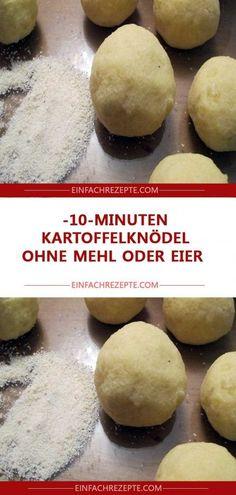 10-Minuten-Kartoffelknödel ohne Mehl oder Eier 😍 😍 😍
