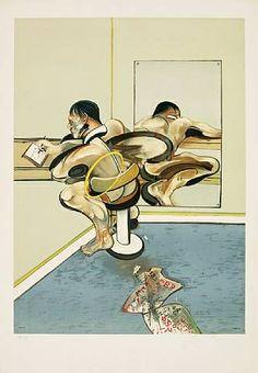 artnet Galleries: nach Figure Writing Reflected in a Mirror, 1976 (Schreibende Figur reflektiert in einem Spiegel, 1976) by Francis Bacon from Galerie Boisserée, J. & W. Boisserée GmbH