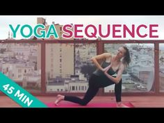 Yoga sequence 45 minutes in length. A mindful yoga flow (vinyasa) sequence