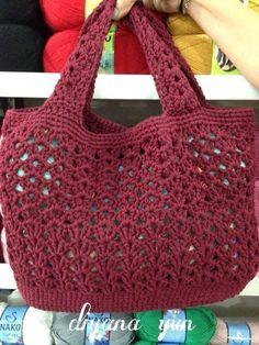 Margarita Zavala Margarita bravo - Salvabrani - is-sit tiegħi Crochet Market Bag, Crochet Tote, Crochet Handbags, Crochet Purses, Knit Crochet, Diy Crafts Crochet, Easy Crochet, Crochet Projects, Free Crochet