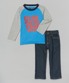 Another great find on #zulily! Caspian Raglan Tee & Jeans - Infant #zulilyfinds
