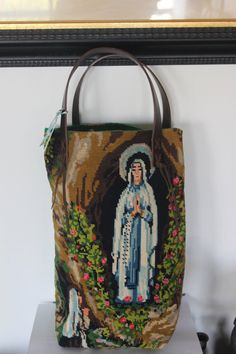BERNADETTE  Tote bag in vintage tapestry by QuatreJanvier on Etsy, €80.00