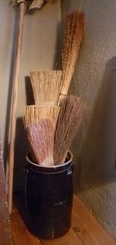 My grandmother made her own brooms.  The one in the back looks like hers.