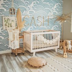 Ocean Themed Nursery - Future - The Effective Pictures We Offer You About gender neutral nursery A quality picture can tell you ma - Boho Nursery, Surf Nursery, Ocean Themed Nursery, Nursery Room Decor, Nursery Modern, Elephant Nursery, Project Nursery, Coastal Nursery, Baby Nursery Neutral