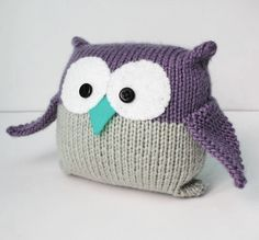 knitted owl - different colors