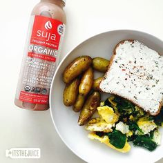 When your beautiful brunch tastes even better with a Suja sidekick… #itsthejuice #suja