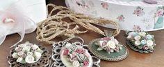 Capodimonte seramik çiçekli kolyeler