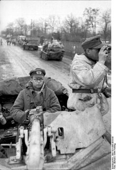 Troop movement on the Eastern Front 1944.
