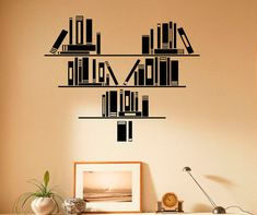 Wall Vinyl Decal Books Stickers Reading Room by BestDecalsUSA