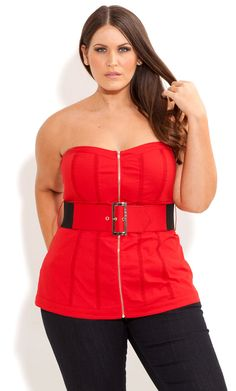fashion, city chic, plus size corsets, citi chic, zip corset, trim zip, lace trim