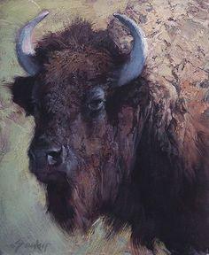 "Jill Soukup ""Cow Portrait"" 24"" x 20"" Oil:"