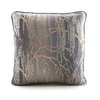 Willow Metallic Velvet Pillow Silver