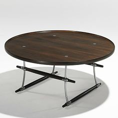 Jens Quistgaard; Rosewood and Nickel-Plated Brass Cocktail Table for Richard Nissen, 1960s.