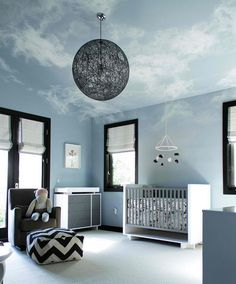 20 Whimsical Ceiling Ideas of Nurseries and Toddler's Rooms | Home Design Lover