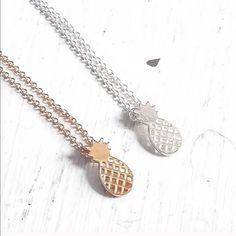 Pineapple Pendant Necklace Gold Or Silver