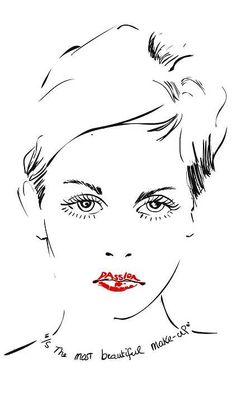 """Passion is the most beautiful Make-up"" - illustration: Hilbrand Bos"