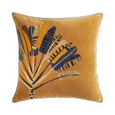 Shop for the Voyageur cushions by Iosis online at Artedona. Enjoy our personal service, luxury brands, worldwide delivery and secure online ordering. Textile Company, Creative Workshop, Ornamental Plants, French Brands, Wonderful Picture, Cotton Velvet, Throw Cushions, Pillow Talk, Luxury Branding