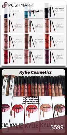 🛒 N͙O͙W͙ Kylie Cosmetics Mattes/Glosses/Metallic 🛒🆕 Kylie Cosmetics Matte LipKits/Glosses/Metallic Lipkits/Blushes/KYLighters(All)/Kyliners(All)/Creme Eyeshadows(All) Authentic/Shipped in Kylie Cosmetics Shipping Boxes w Proof of Purchase/🛑STOP🛑Wondering about quality of cheaper duplicate lipkits out there! They just DON'T MEASURE UP! RULE I think of is: YOU GET WHAT U PAY FOR! Please Shop my Closet/Poshmark.com/closet/toryshop 1st time on Poshmark sign-on with code BICNL receive $5…
