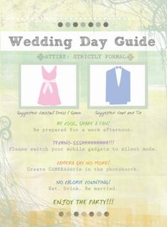 wedding day guide   # Pin++ for Pinterest #