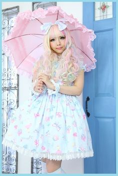 lolita fashion | Tumblr  sweet lolita, fairy kei, gothic lolita, decora // i need a parasol lol
