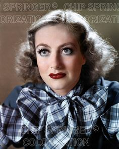 5 DAYS! 8X10 JOAN CRAWFORD LARGE PLAID BOW STUNNING COLOR PHOTO BY CHIP SPRINGER. Please visit my Ebay Store at http://stores.ebay.com/x5dr/_i.html?rt=nc&LH_BIN=1 to see the current listings of your favorite Stars now in glorious color! Message me if you would like me to relist your favorites.