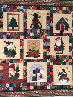 Christmas appliquéd with machine blanket stitch