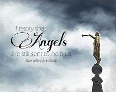 "A Pocket full of LDS prints: ""Angels are still sent to help us"" Print Freebie (Jeffrey R. Holland)"