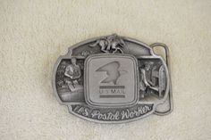 U. S. Mail Postal Worker Mailbox Post Office 1986 Vintage Belt Buckle K 40 #SiskiyouBuckleCompany